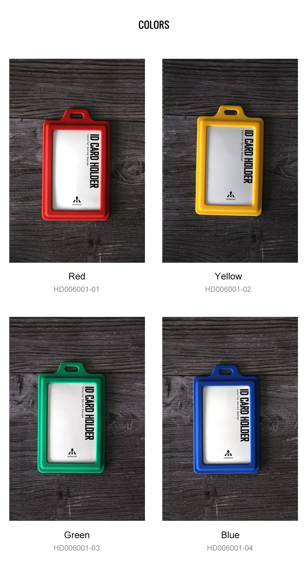 HiDREAM Design colorful silicone business id card holder