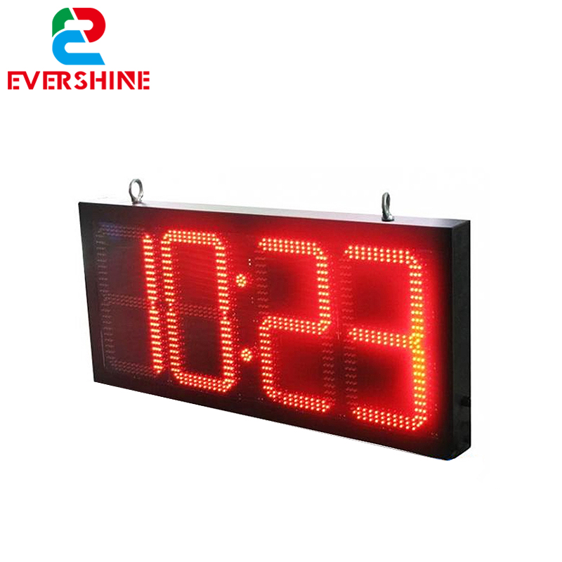 LED Display della Temperatura Orologio Outdoor Grande LED Digital Clock Tabellone Segno 20 pollice LED Display del Timer 88: 88