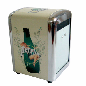 tinplate restaurant napkin dispenser