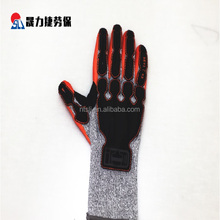 Professional factory supply red cuff pvc dotted cotton gloves for sale