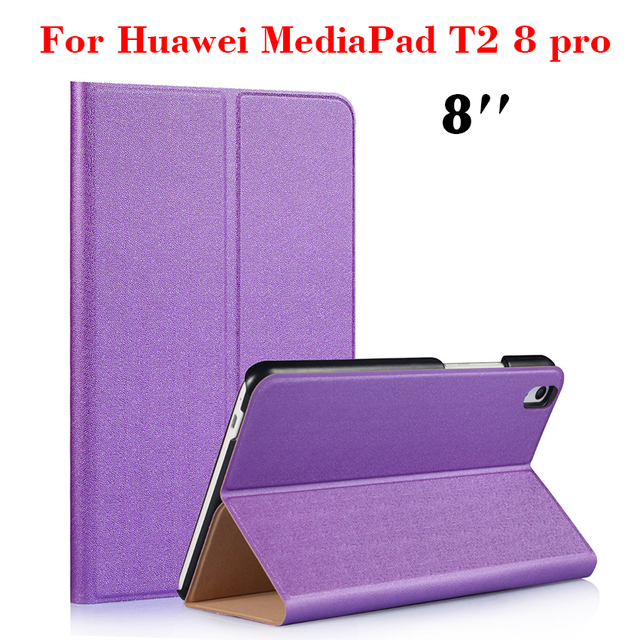 T2 8 '' Pro Flip PU Leather Case Ultra Slim Fashion Tablet Case Cover For  Huawei MediaPad T2 8 0 Pro Protective Stand Shell SKin-in Covers & Cases