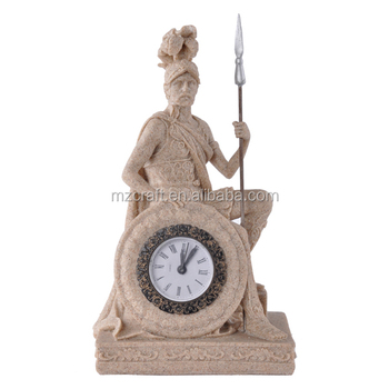 Resin Sandstone Crafts The Statue Of Mars Clock For Home Office ...