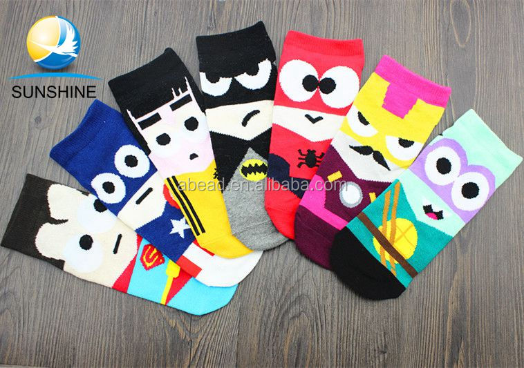 Factory direct sale unisex Avengers union series cotton ankle socks