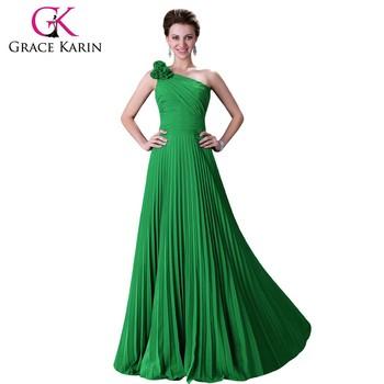 grace karin  Grace Karin Womens One Shoulder Long Chiffon Bridesmaid Dress Cl3467 ...