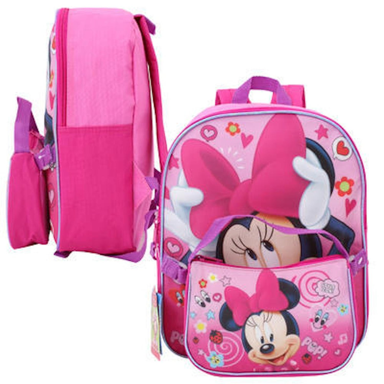 9b3bec26312 Get Quotations · Disney Minnie Mouse 12in Backpack with Detachable bag