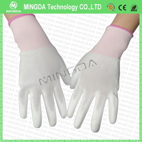 ESD PU Finger Coated Nylon Gloves Small
