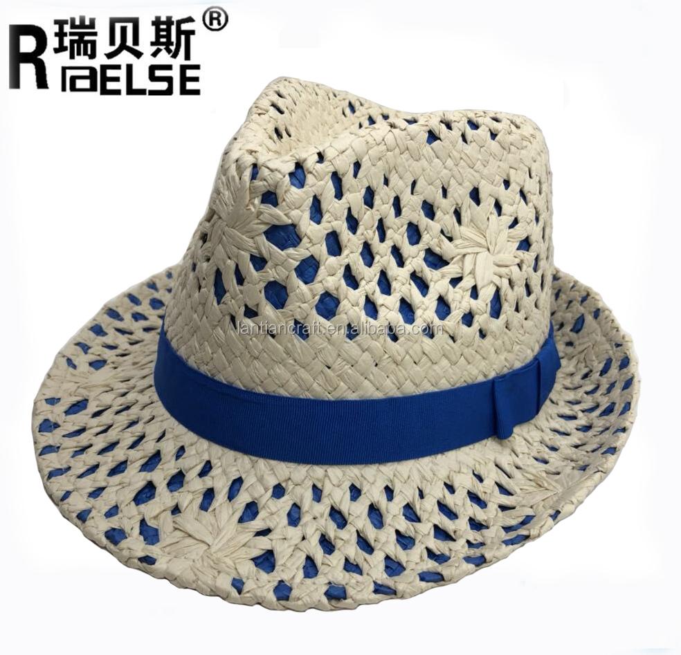 2017 mujeres de la manera hecha a mano floral verano playa Sun Fedora  Trilby sombrero de 360a502f740