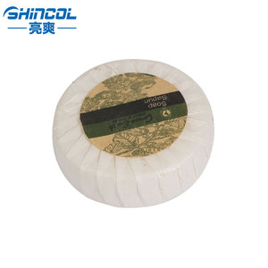 Round wholesale hotel small bath soap