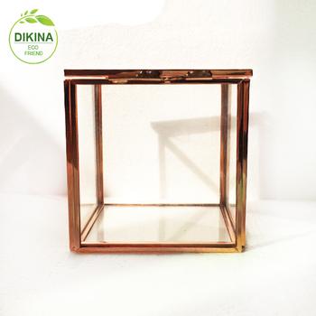 Large Glass Votive Cup Also Called Geometric Glass Terrarium