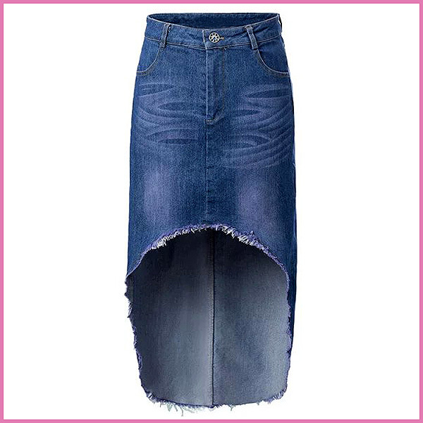 6f1310ad9 Jeans De Moda Falda Delantero Corto Largo Diseño Inflexible De Chica Sexy  Falda De Jeans - Buy Falda Corta De Las Muchachas Calientes,Faldas Largas  ...