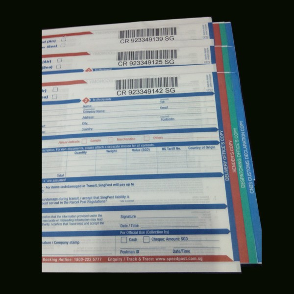 NCR paper printing for consign note air waybill Manufaacturer