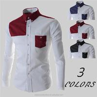 Fashion Mens Simple slim fit Tops Long Sleeve Plaid Casual Dress Shirts Wedding Dress