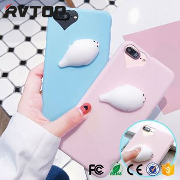 Squishy Cat Case Kneading Soft Silicone Finger Pinch Cute Mobile Phone TPU  Protective Cover for Girls ff6a2e4e3