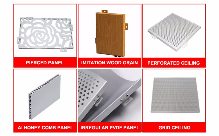 2016 Wholesale Exterior Wood Imitation Aluminum Panels