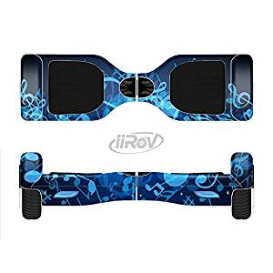 The Glowing Blue Music Notes Full-Body Wrap Skin Kit for the iiRov HoverBoards and other Scooter (HOVERBOARD NOT INCLUDED)