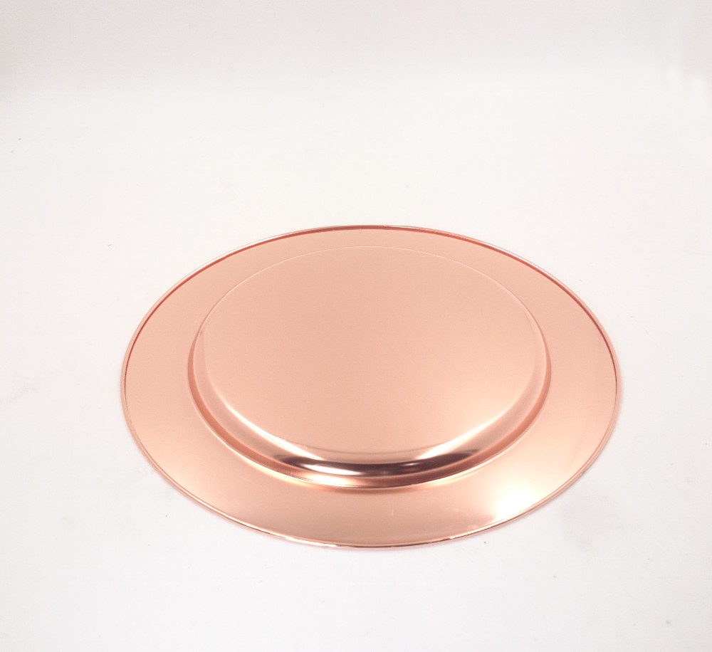 Cheap Wholesale Wedding Rose Gold Stainless Steel Charger