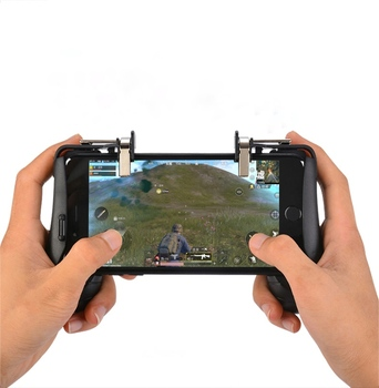 on sale a8f58 3bdc1 2018 Hot Selling 3 In 1 Gamepad Phone Game Controller,Joystick And Holder  For Iphone X,8,7,6 - Buy 3 In 1 Gamepad,Mobile Game Joystick,Aim And Shoot  ...