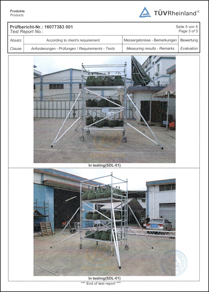 TUV Certificated Building Mobile Aluminum Scaffolding Tower for Sale