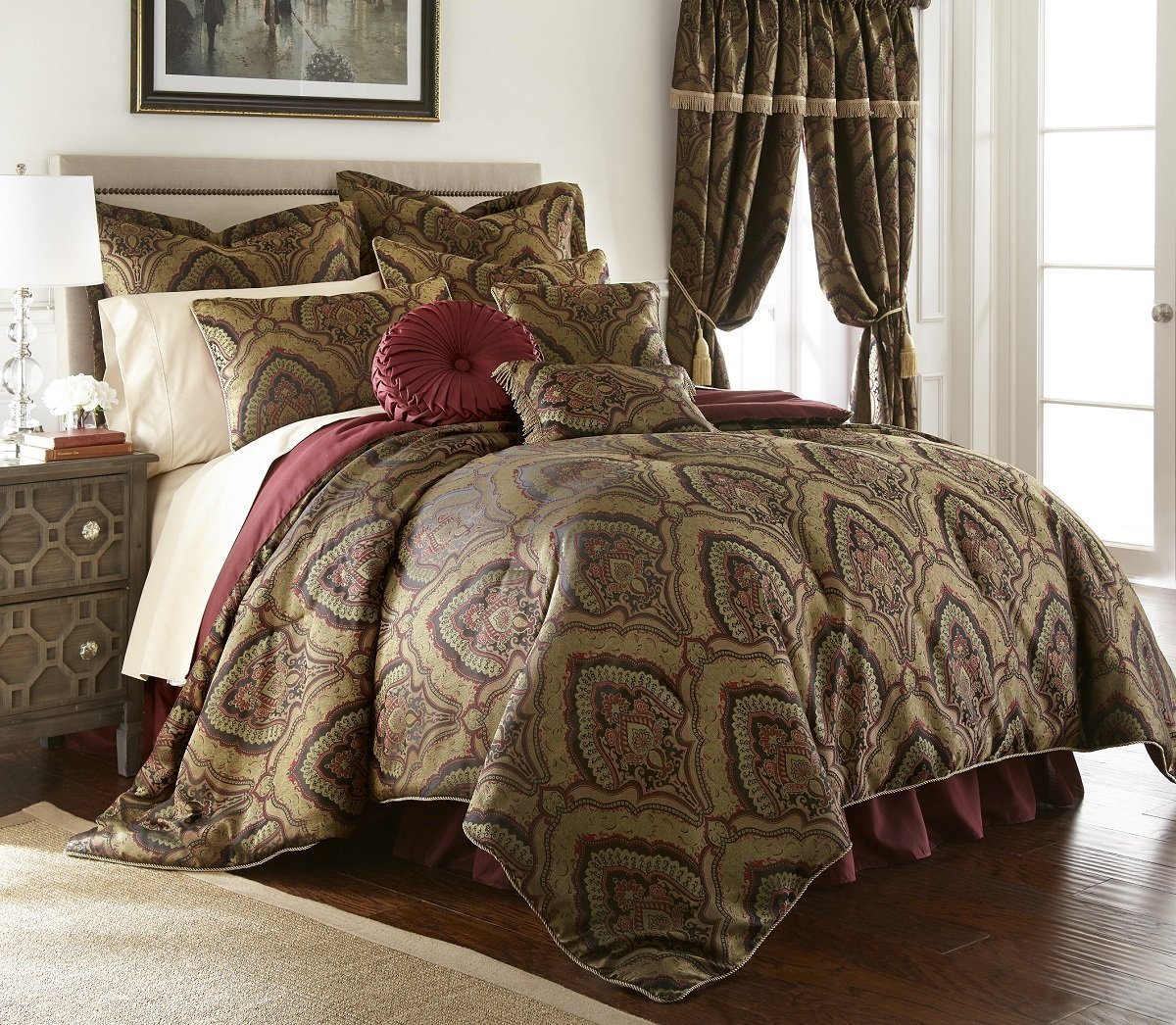 how maroon sets put comforter set to burgundy beautiful