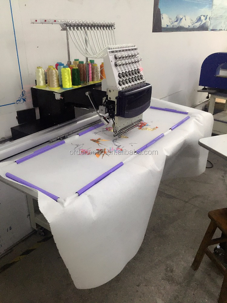 Computerized t shirt cap 1 head China embroidery machine