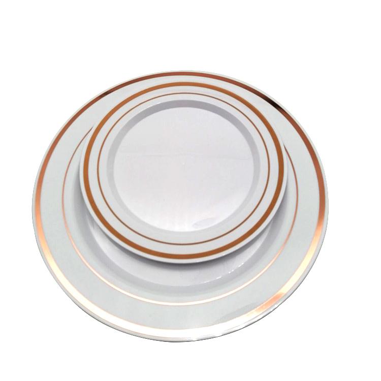 180 Pcs Serves 30 Gold Party Supplies-Set Disposable Plastic Dinnerware Set