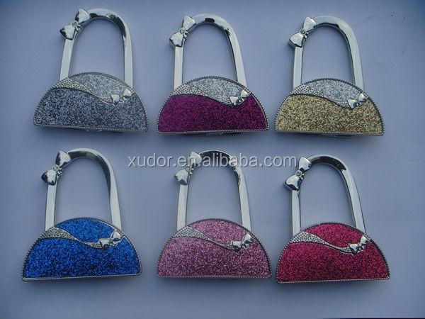 7f2619ba9442 Metal Foldable Hello kitty Bag Hanger  cat shaped bag hanger. metal custom  bag accessory