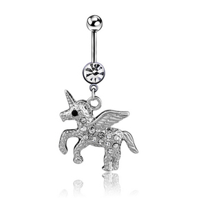 Unicorn Navel Ring Lovly Horse Belly Button Ring