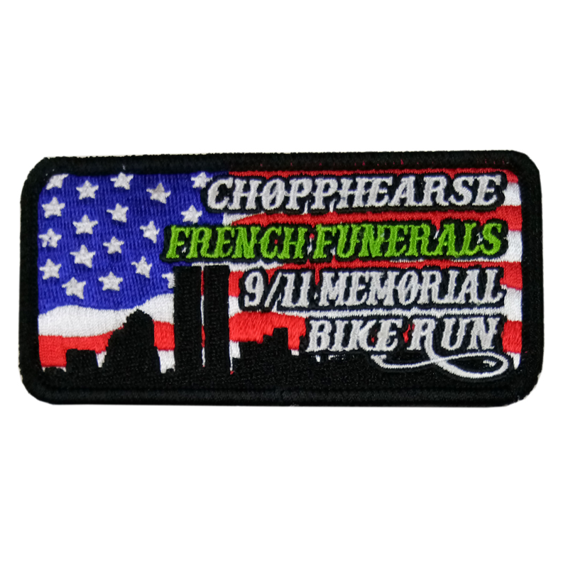 Brodé USA drapeau patch, américain Brodé New Biker Gilet 911 Patch Memorial