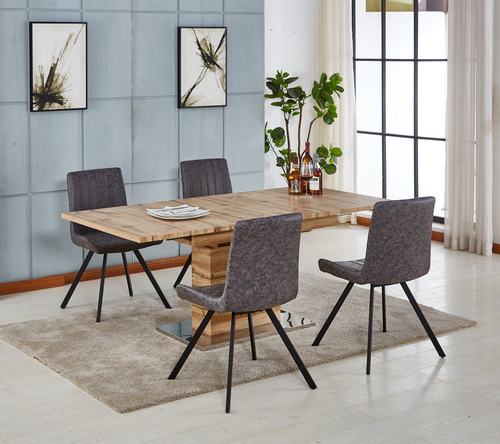 Modern Luxury Veneer Paper Mdf Dinning Table Set Dining Room Furniture Wooden Dining Table And Chairs Set Buy Modern Dining Set Wooden Dining Table And Chairs Dinning Table Set Dining Room Furniture