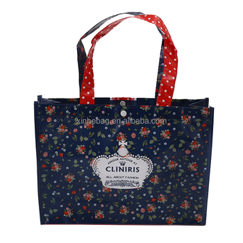 High quality full coverage printing recyclable promotional non woven bag with top button closure