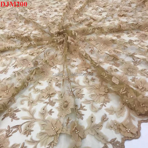 Wholesale High Quality African Tulle Lace 5Yds/Lot African Net 3d Lace Fabric Embroidery Lace For Wedding