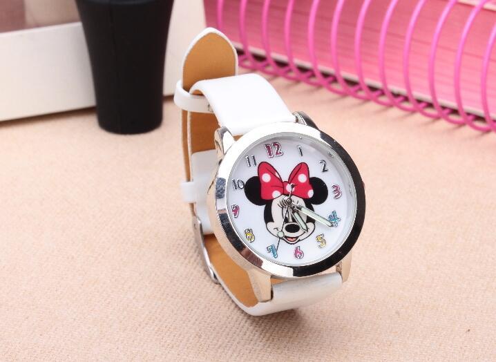 5b89d4aa7 Cute Children s Watch Cartoon font b hellokitty b font PU Leather  Wristwatch hour clock Quartz