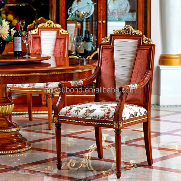 New Model Antique Italian Wood Chair Design Solid Wood