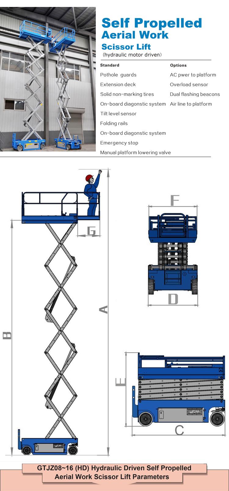 Otomatis Mobil Lift Hidrolik/Ponsel Scissor Lift