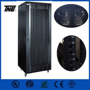 "Exquisite 19"" network cabinet 42U 45U 47U telecom cabinet floor standing rack with lockable door"