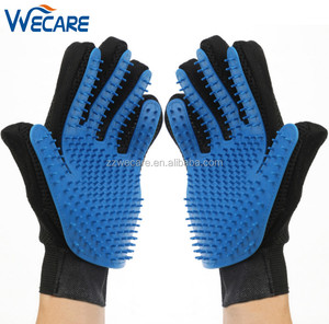 255 Pins Magic Blue Color Silicon Deshedding Cat Brush Horse Hair Remover Fur Comb Dog Bath Message Pet Grooming Gloves