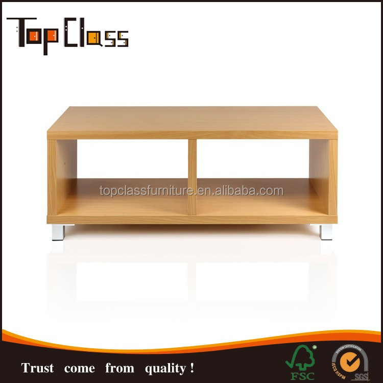 ZA008 rectangular wooden coffee table designs