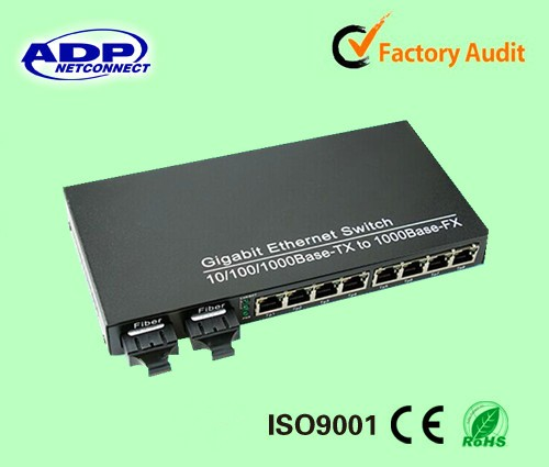 Mini 8 port PoE switch 48V 24V power over ethernet switch