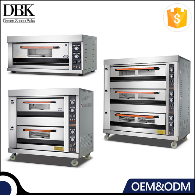 Bakery Equipment Commercial Triple Layers Gas Stainless Steel pastry baking oven With Timer