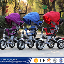 New Design 4 in 1 Baby Tricycle with 360 Degree Rotation