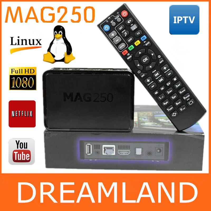 New IPTV BOX Mag250 Linux System Iptv Set Top Box Support Wifi Dongle Without