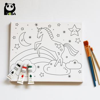 Los Niños De Dibujos Animados Pintura Al óleo Buy Lienzo Preimpreso Para Pintarniños Preimpresos Lienzo Para Pintardibujos Animados Preimpreso