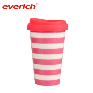 Everich Custom Ceramic Mug in Porcelain with Silicone Lid Coffee Tumbler