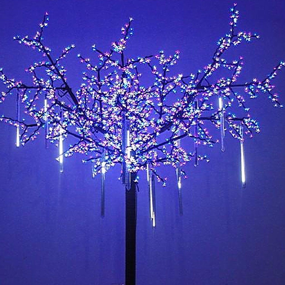high waterproof 30/50/80cm rainfall led meteor shower light outdoor for tree holiday decoration