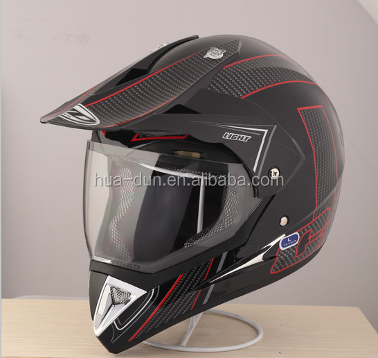 HuaDun new model ECE approved safety cross helmet with visor HD-803