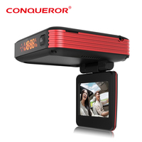 radar detector with car dvr camera GM-1980S full X/K/KA/KU Band Radar Detector original Conqueror