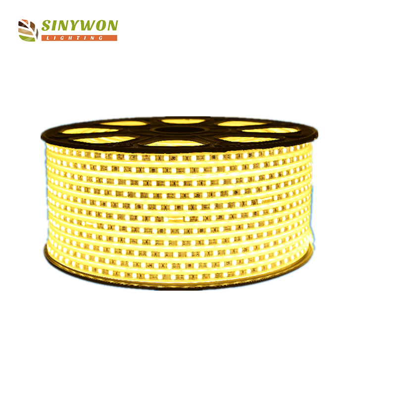 Guzhen cheap led strip light 60 leds/m led flexible strip light plastic channel 12v/220v with CE ROHS