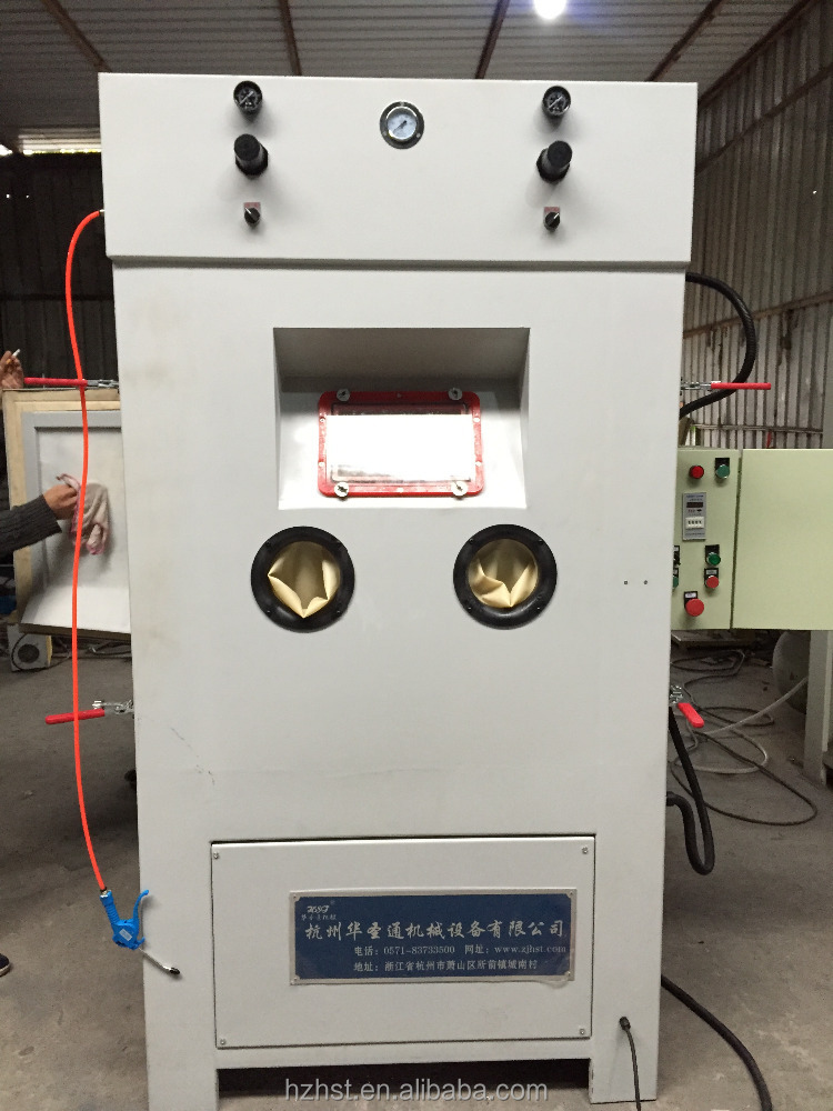 Automatic sandblast machine for screws