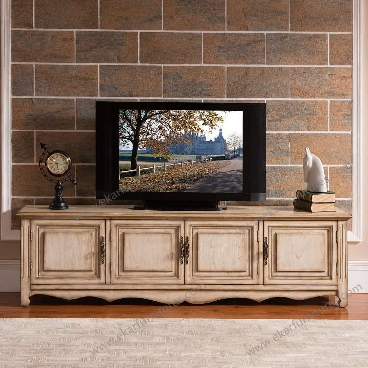 Simple Design New Modern Solid Wood Tv Stand Showcase