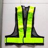 High Visibility Flashing Reflective Black Safety Straps Vest